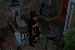 Scenda dal cimitero